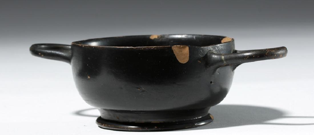 Greek Attic Blackware Kylix - Ex Sothebys - 3