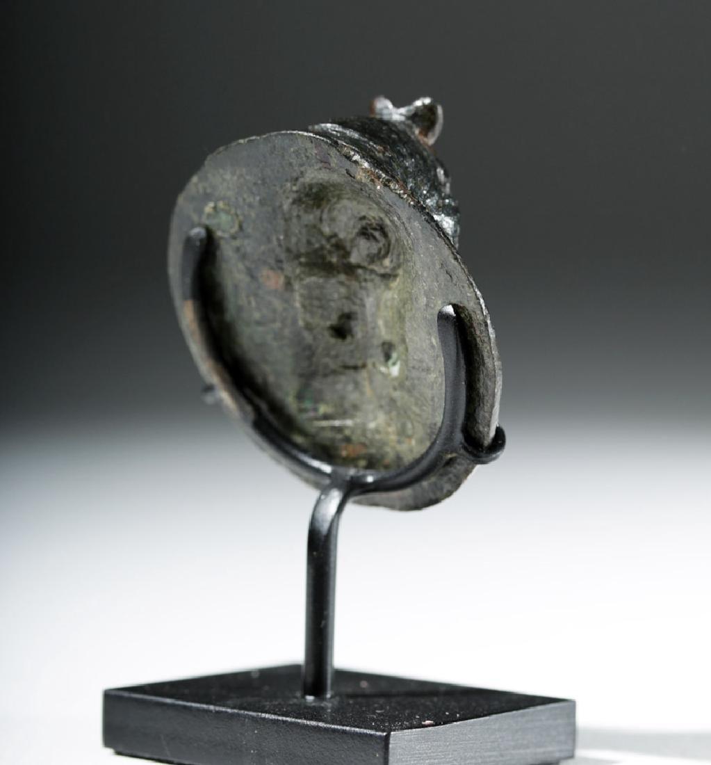 Roman Bronze Roundel in Form of Female - 3