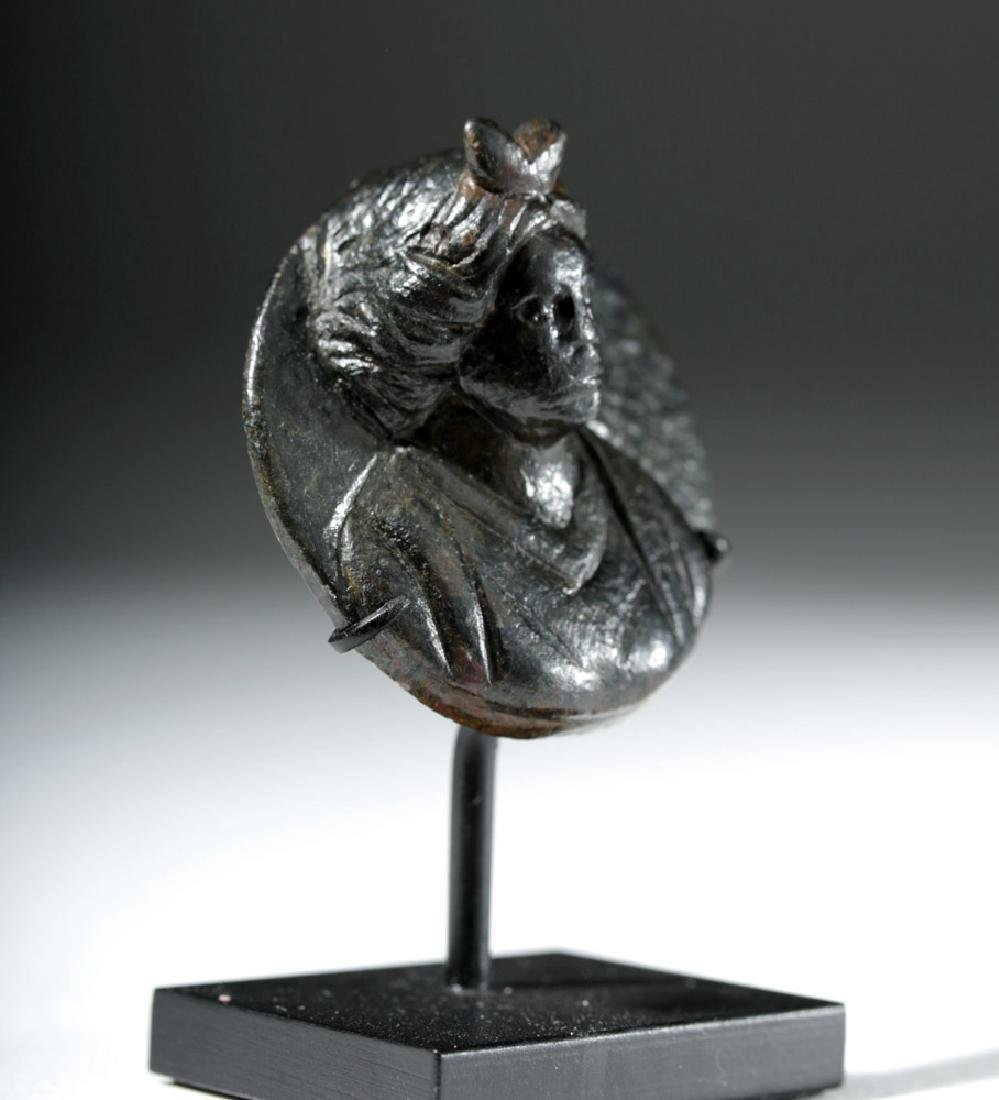 Roman Bronze Roundel in Form of Female - 4