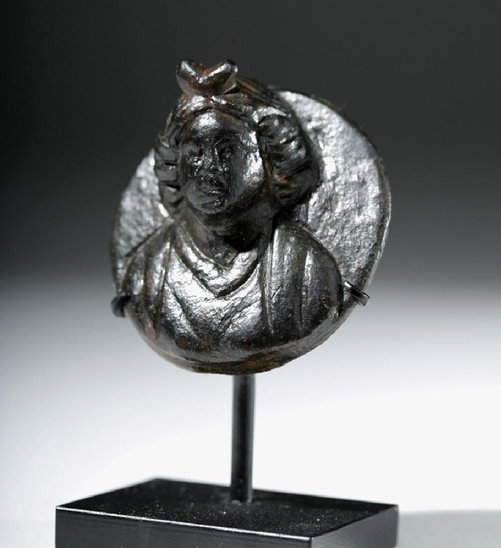 Roman Bronze Roundel in Form of Female - 5