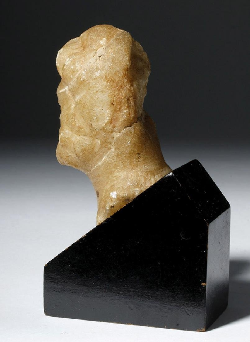 Lovely Roman Alabaster Bust - 2nd Century - 2