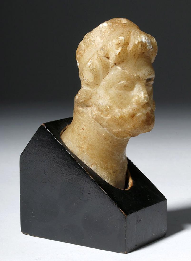 Lovely Roman Alabaster Bust - 2nd Century - 4