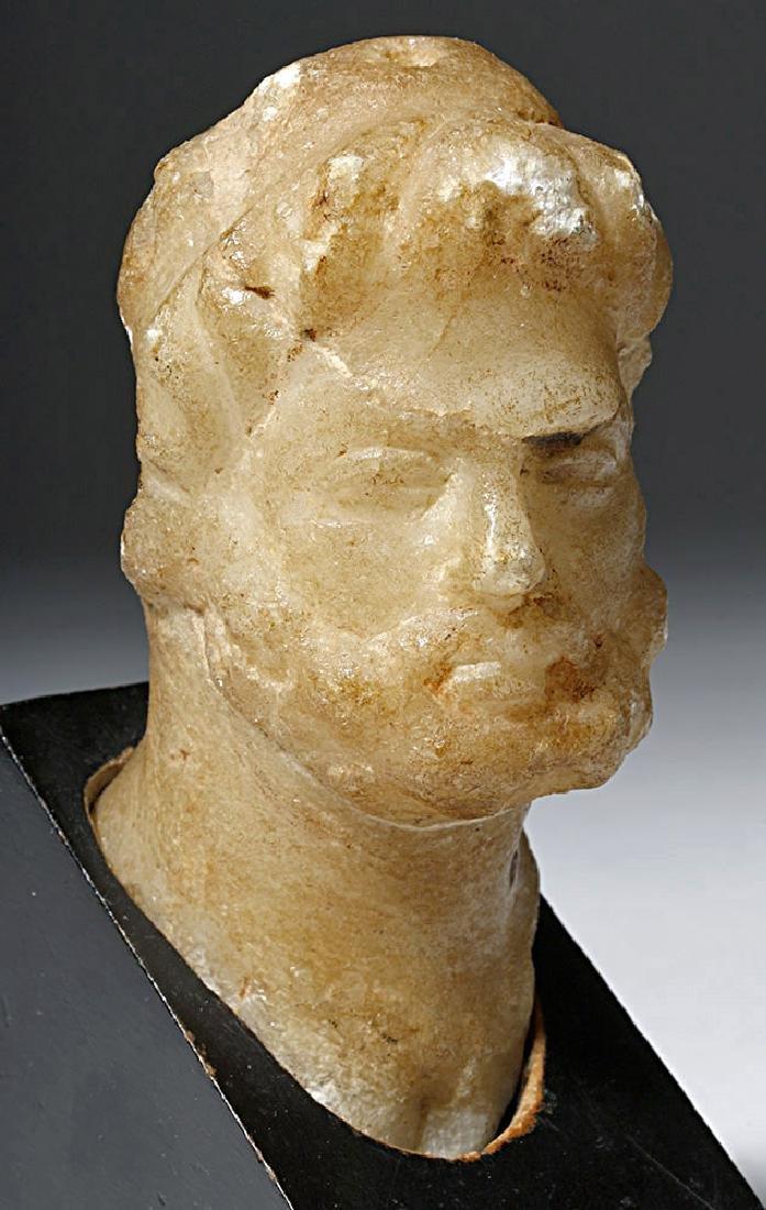 Lovely Roman Alabaster Bust - 2nd Century - 5