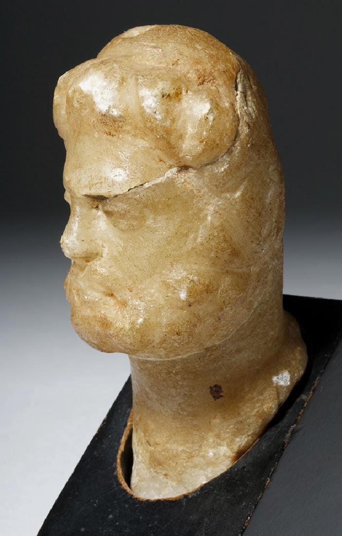 Lovely Roman Alabaster Bust - 2nd Century - 6