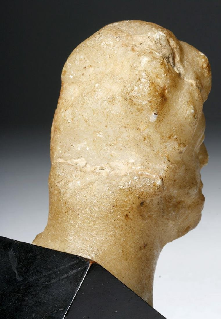 Lovely Roman Alabaster Bust - 2nd Century - 8