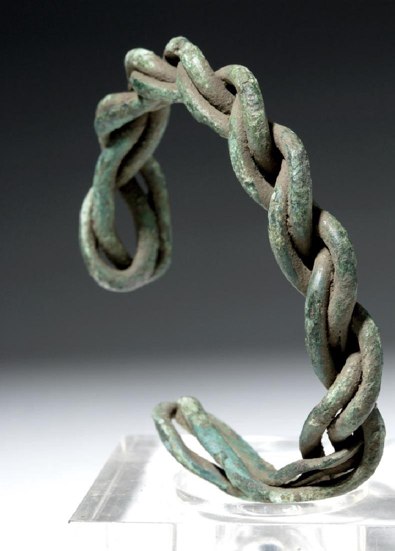 Viking Twisted Bronze Wire Bracelet