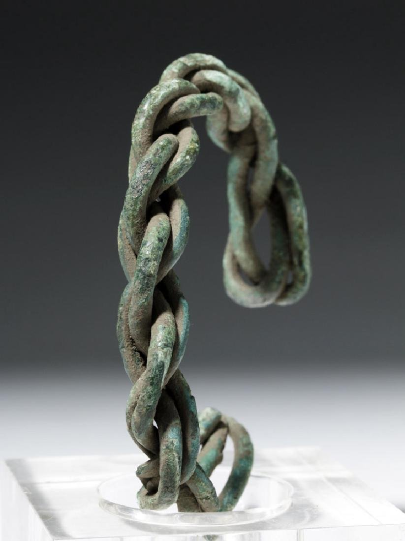 Viking Twisted Bronze Wire Bracelet - 2