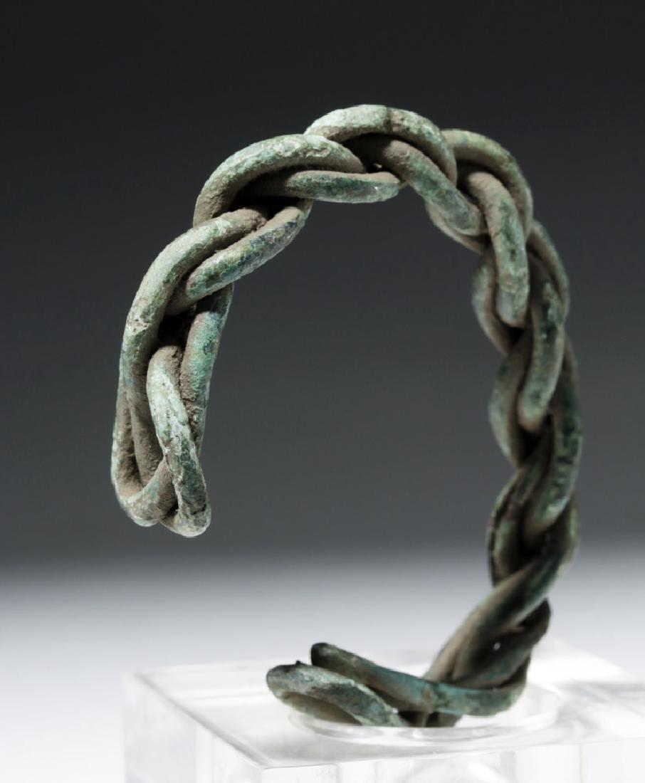 Viking Twisted Bronze Wire Bracelet - 3