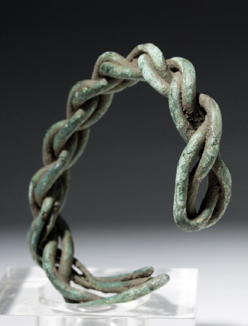 Viking Twisted Bronze Wire Bracelet - 4