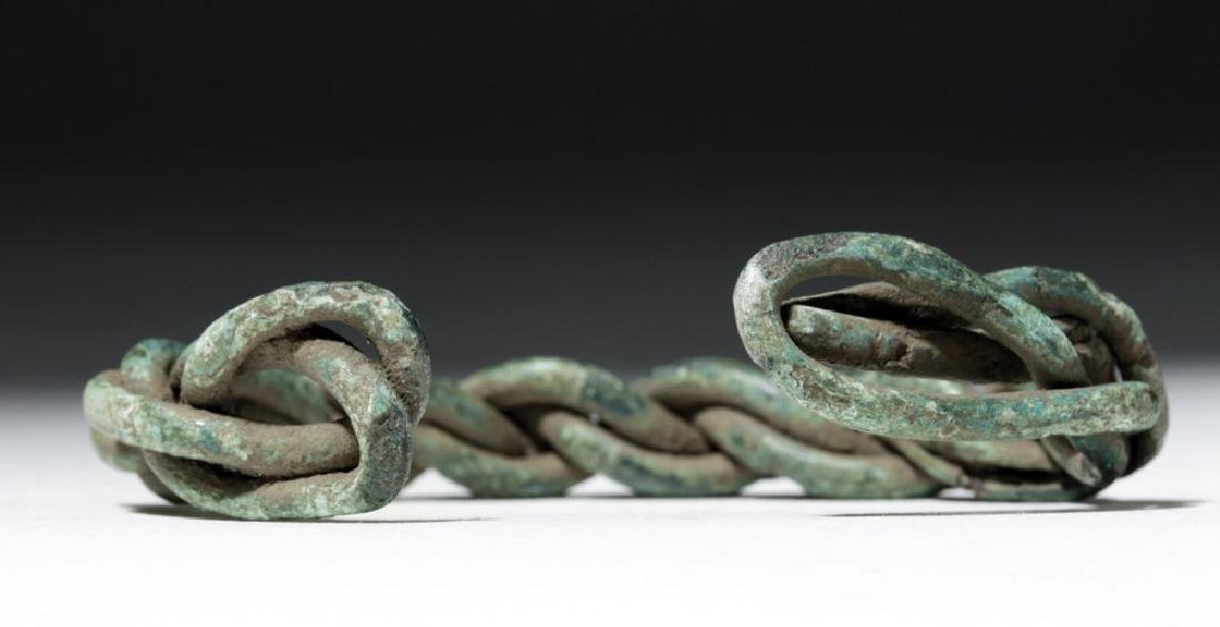 Viking Twisted Bronze Wire Bracelet - 5