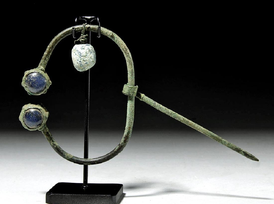 Ancient Viking Bronze / Glass Brooch - 2