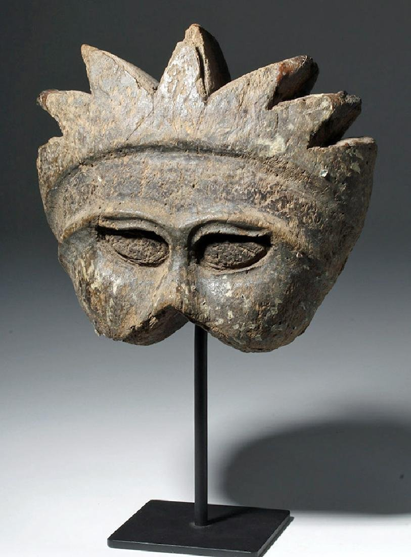 19th C. Indonesian Carved Wood Mask Mold