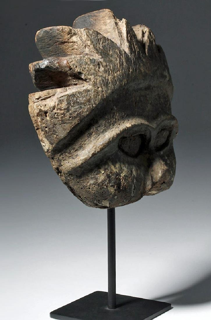 19th C. Indonesian Carved Wood Mask Mold - 4