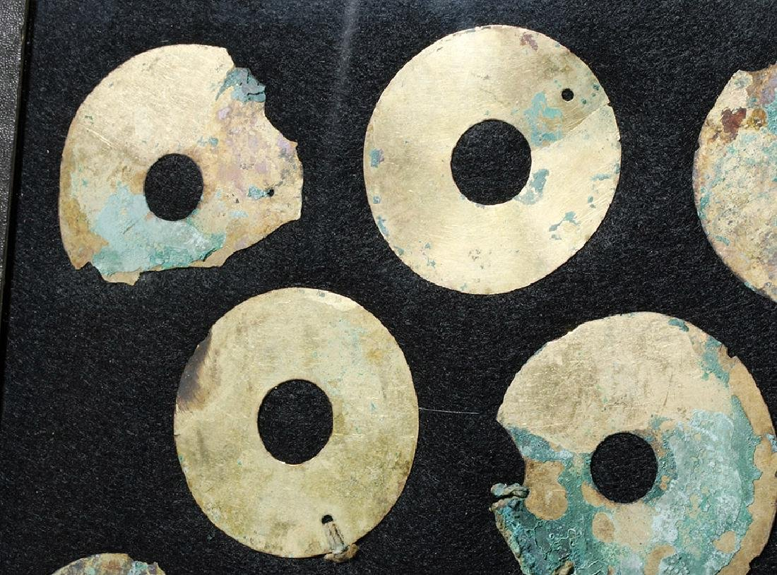 Group of 11 Moche Gold Tumbaga Discs - 2