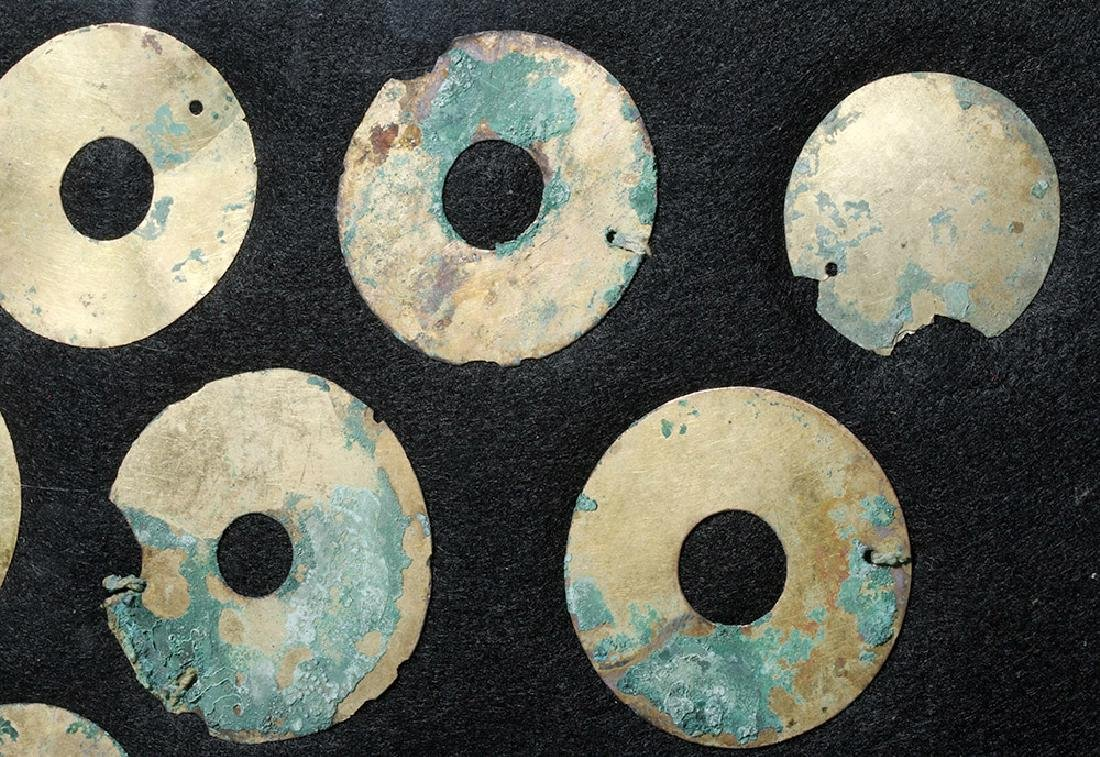 Group of 11 Moche Gold Tumbaga Discs - 3