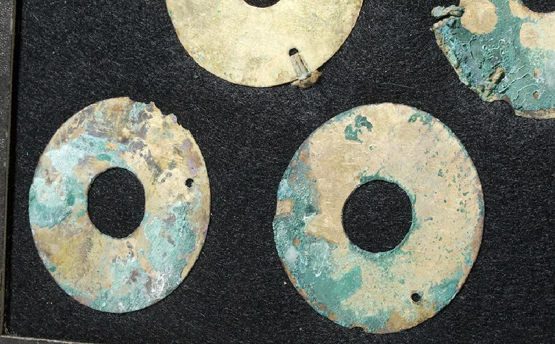 Group of 11 Moche Gold Tumbaga Discs - 4
