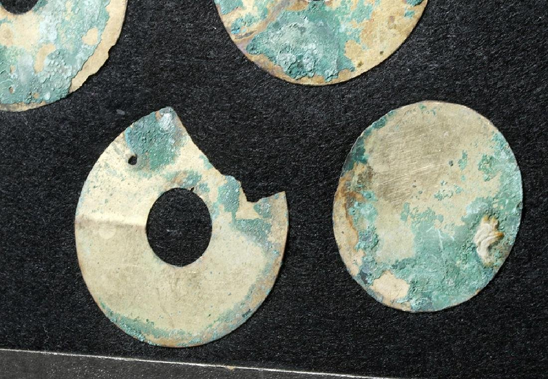 Group of 11 Moche Gold Tumbaga Discs - 5