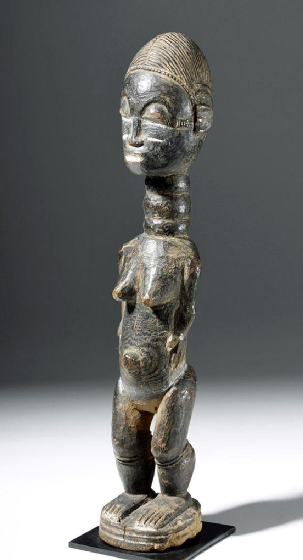 Fine Early African Carved Baule Wood Dream Lover