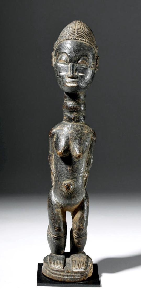 Fine Early African Carved Baule Wood Dream Lover - 5