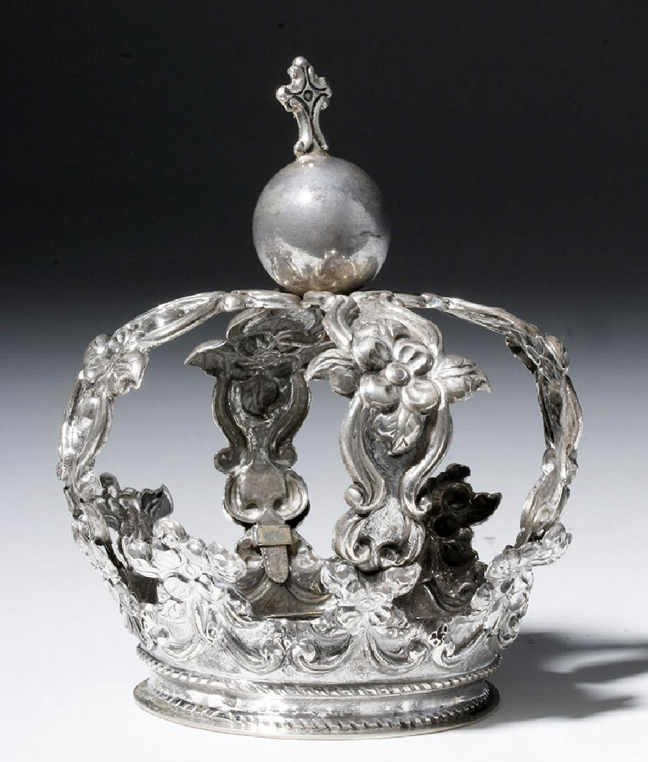 Bolivian Spanish Colonial Silver Crown, ex-Historia