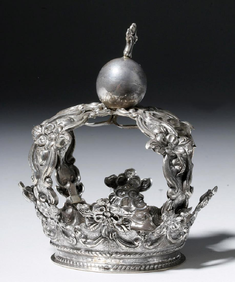 Bolivian Spanish Colonial Silver Crown, ex-Historia - 3