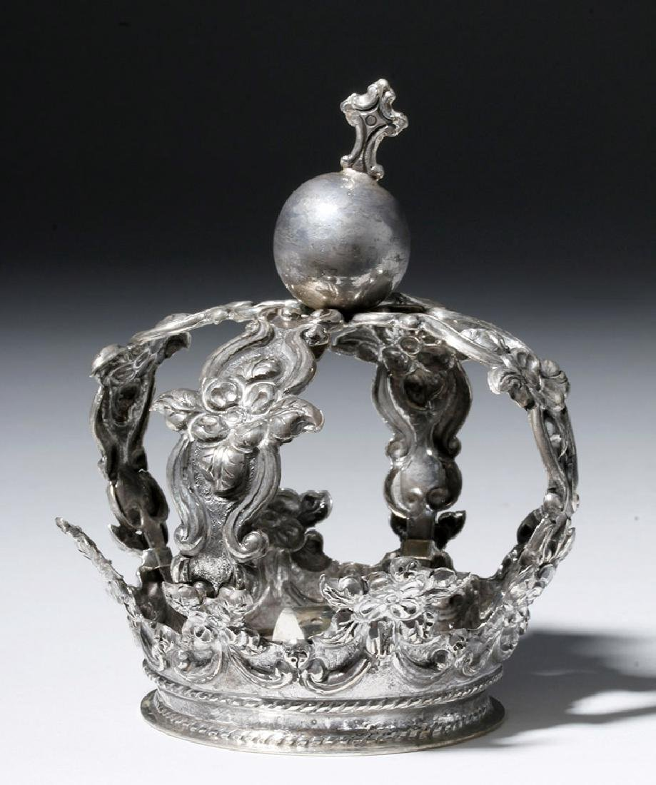 Bolivian Spanish Colonial Silver Crown, ex-Historia - 4