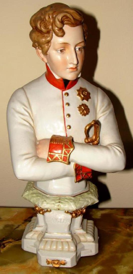French Porcelain Bust of Napoleon II, L'Aiglon