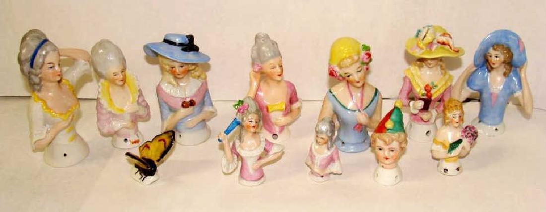 Lot of 12 German Half Dolls