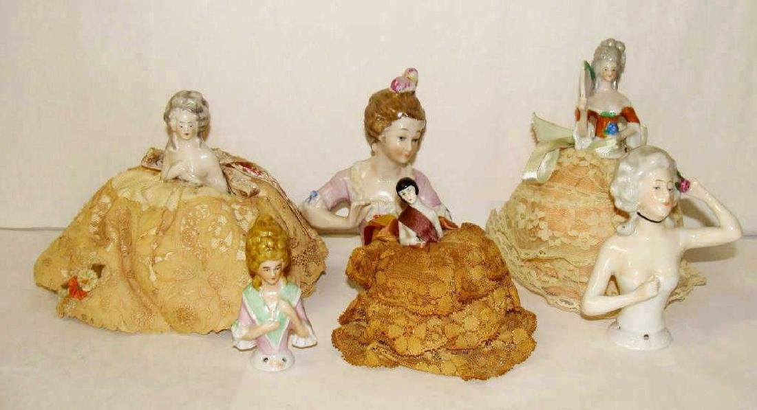 Lot of 6 German Half Dolls