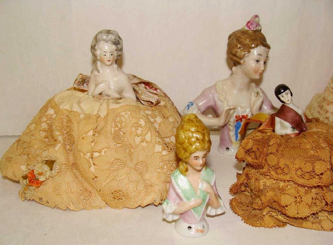 Lot of 6 German Half Dolls - 3