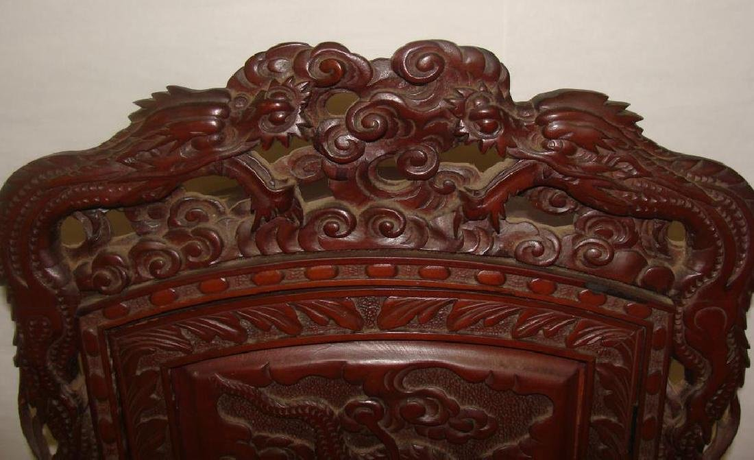 Chinese Hand Carved Cabinet - 2
