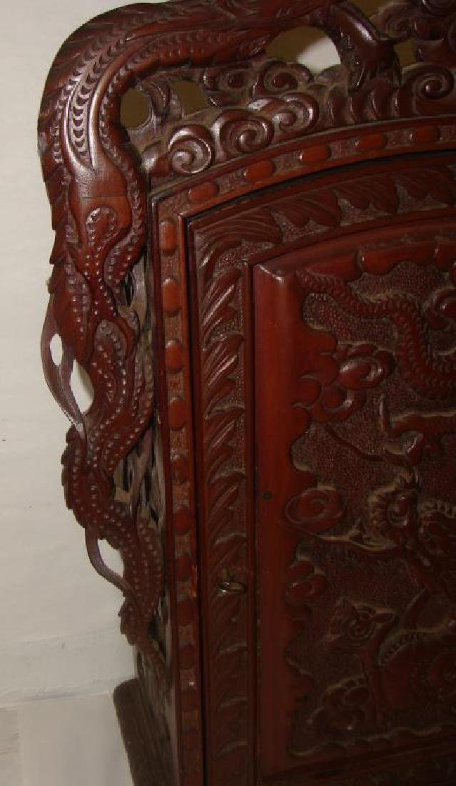 Chinese Hand Carved Cabinet - 3