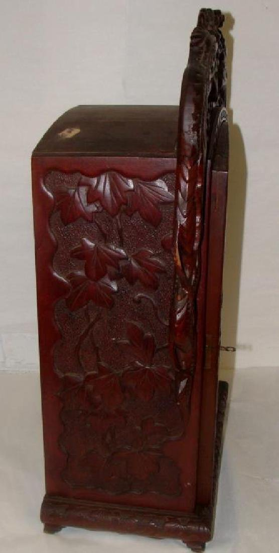 Chinese Hand Carved Cabinet - 4