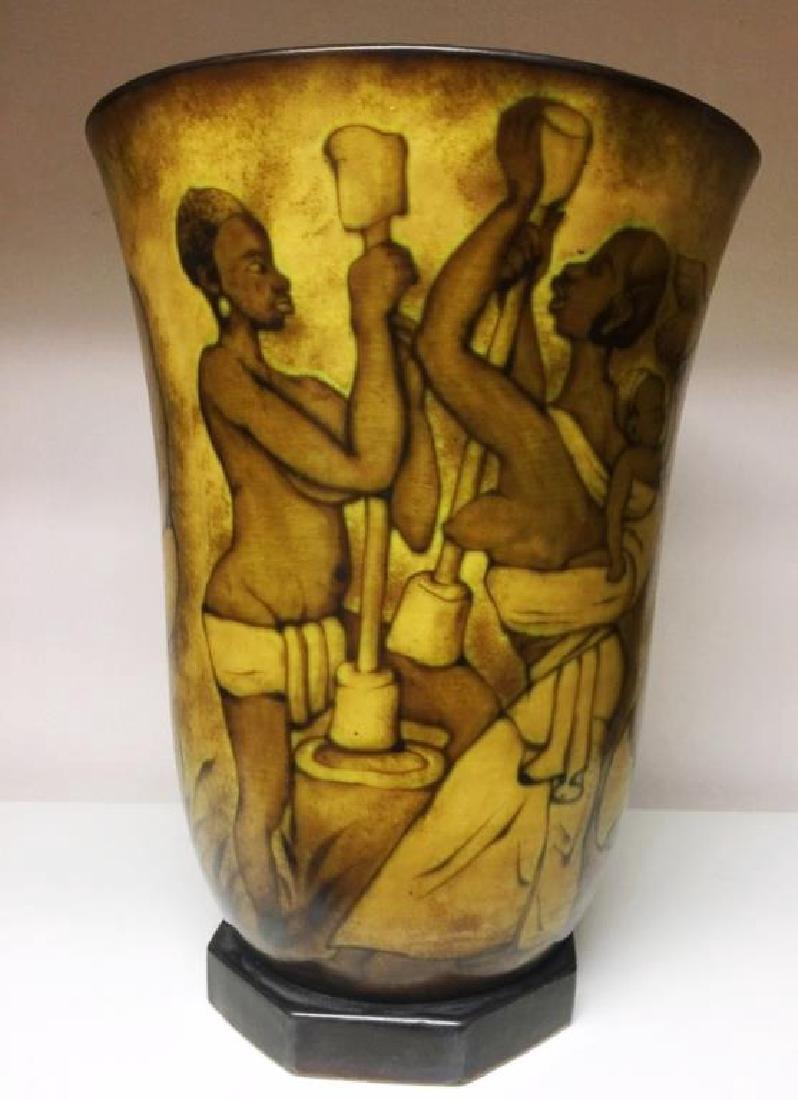 Charles Catteau Boch Freres Keramis Glazed Vase