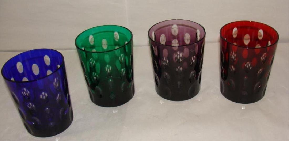 Lot of 4 Faberge Whiskey  Glasses