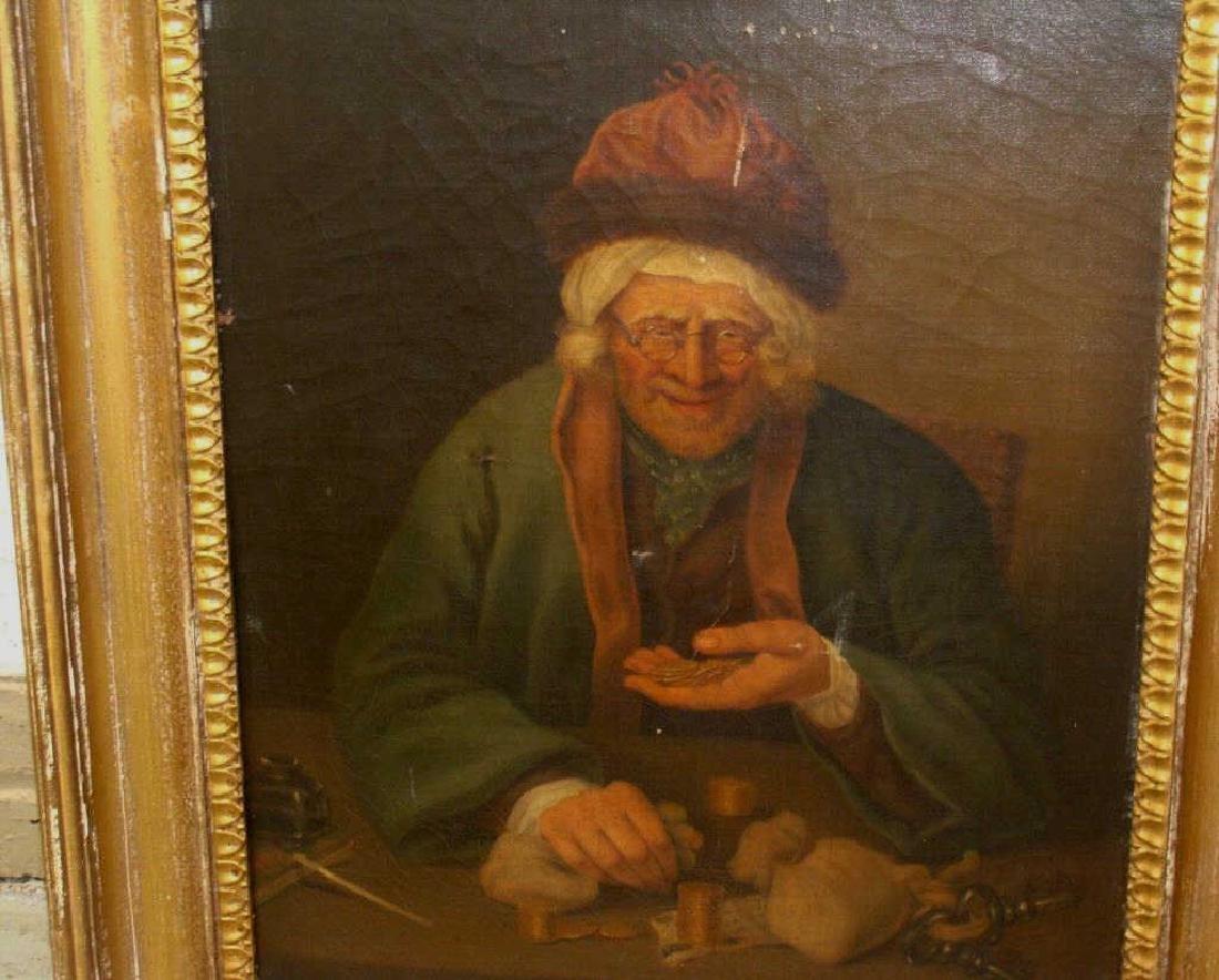 Portrait of a Old Miser O/C - 2