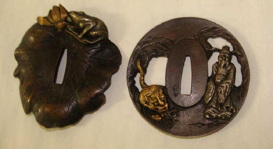 Two Bronze Japanese Tsubas