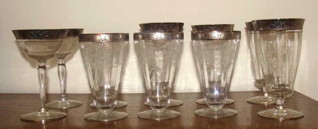 Silver Gilt Vintage Water  Glasses