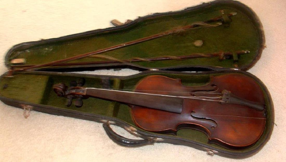 Antique Violin and Bows