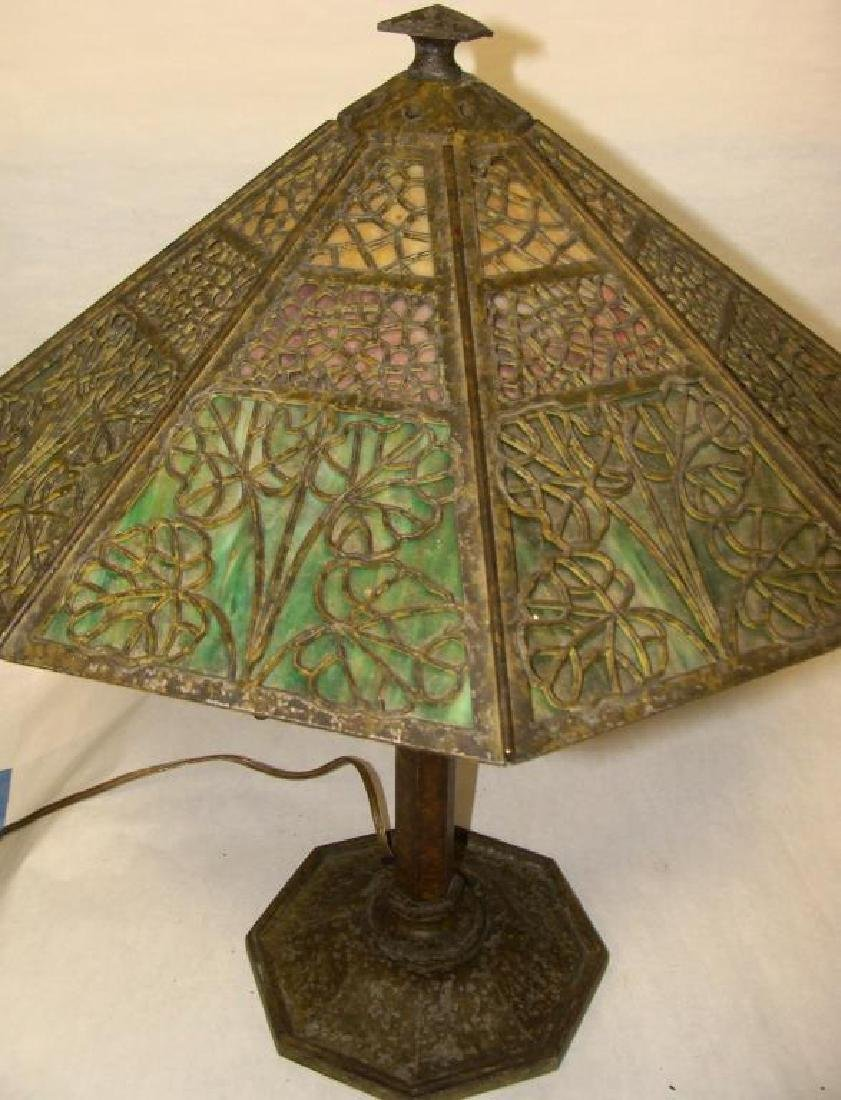 Arts & Crafts Bradley & Hubbard Lamp - 2