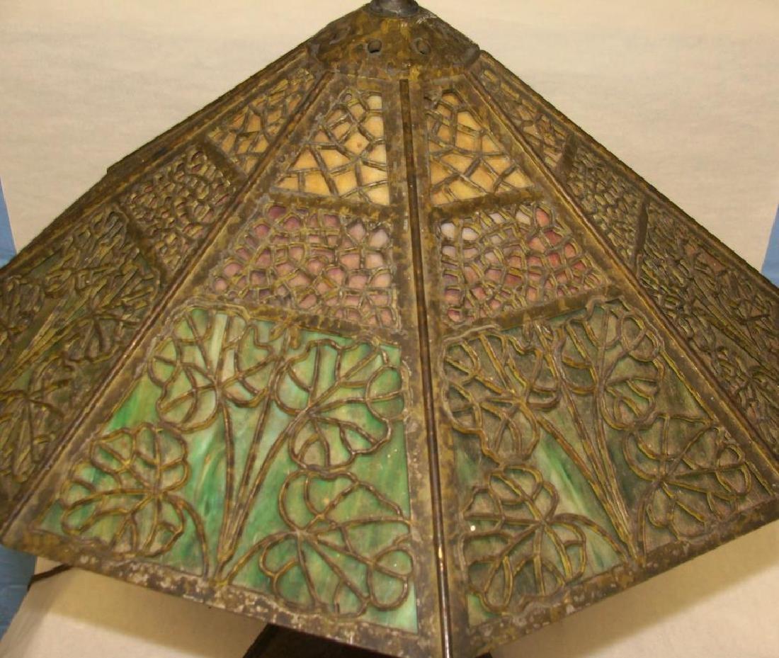 Arts & Crafts Bradley & Hubbard Lamp - 3