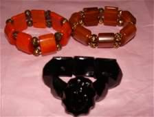 3 Vintage Bakelite Bracelets