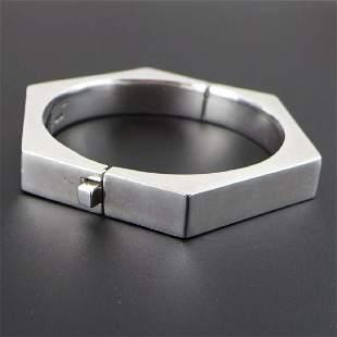 Large Mexican Sterling Sliver Bracelet