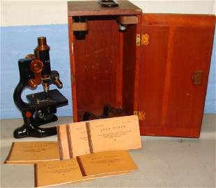 Antique c1915 Bausch & Lomb Microscope