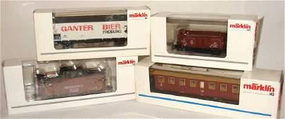 Lot of 4 Marklin Trains 4211
