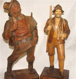 Lot of 2 Carved Statues Anris