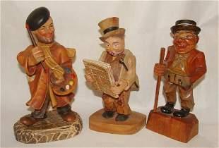 Lot of 3 Anri Figurines