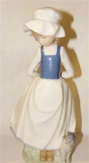 NAO Figurine Girl with Dog