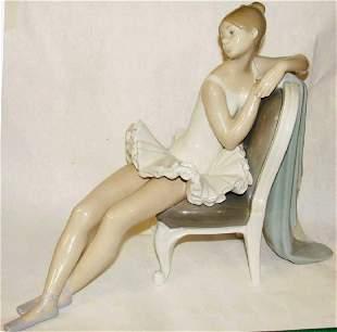 Large Llardo Figurine Seated Ballerina
