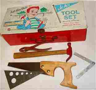 Tin Litho Toy Tool Kit